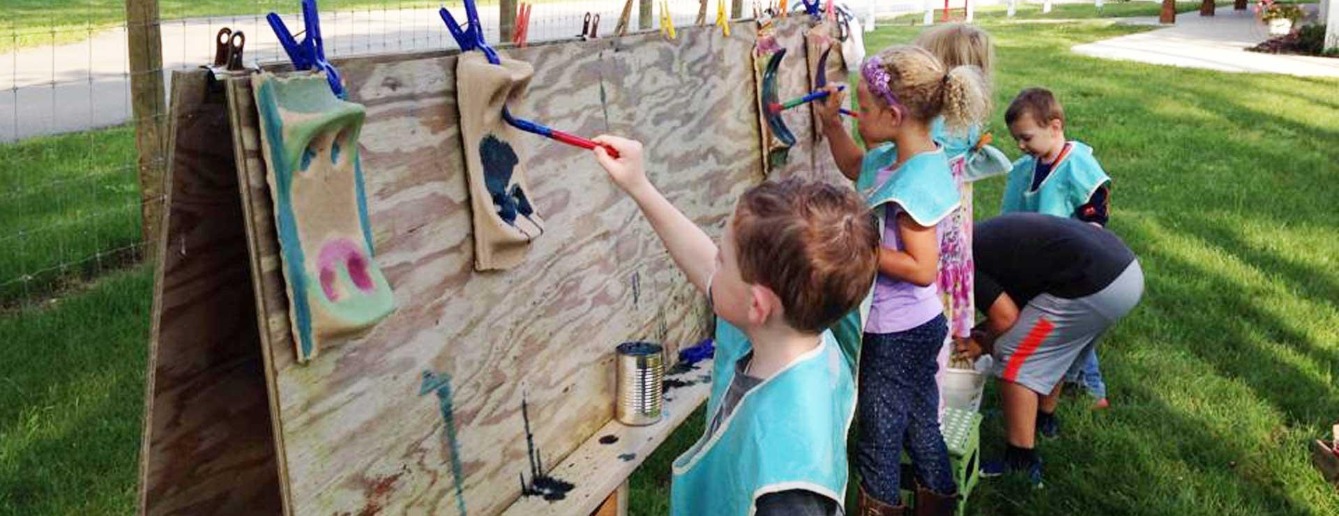 canterbury-creek-farm-preschool-grand-rapids-mi-art-children-painting